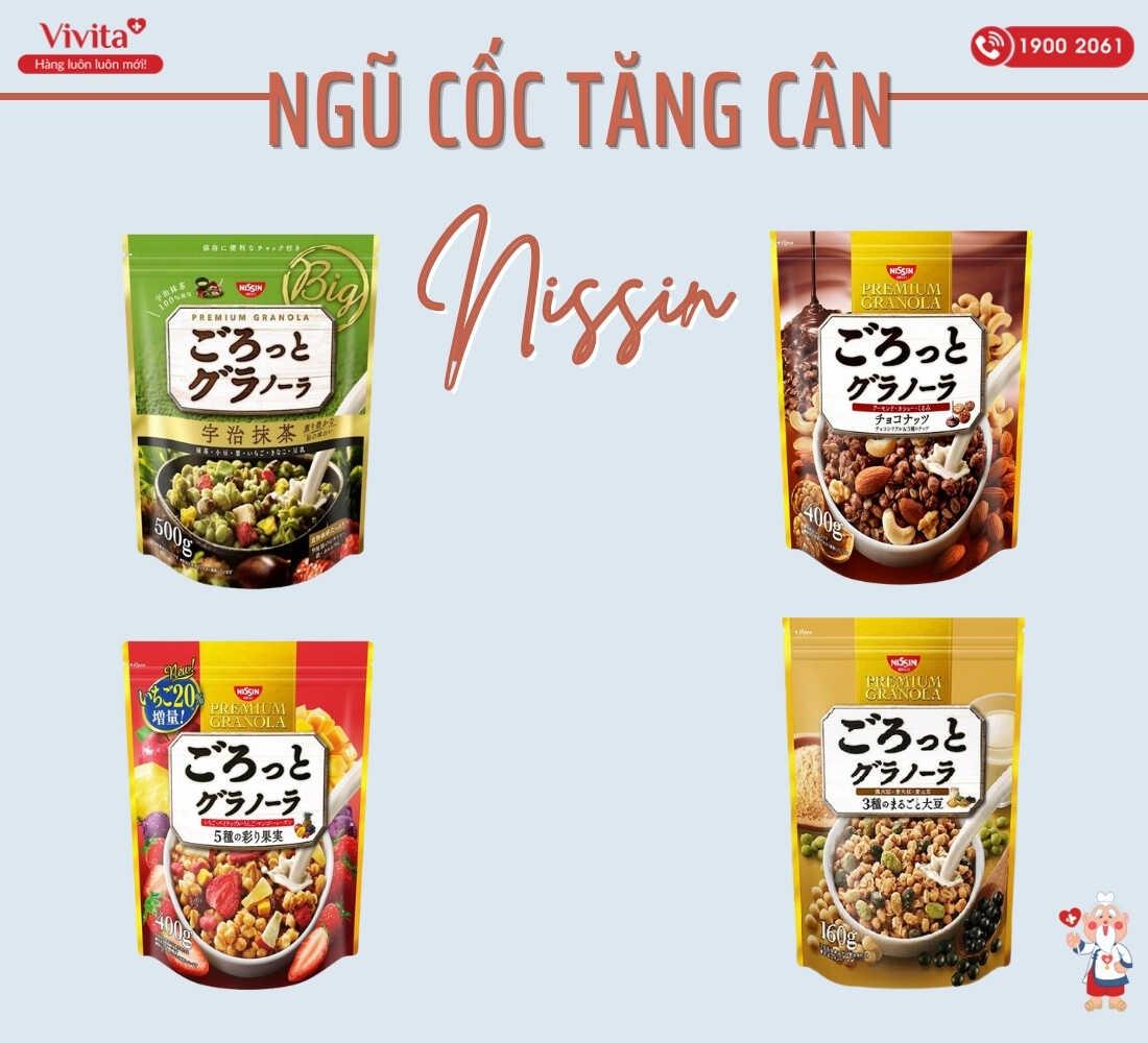 4 phiên bản ngũ cốc Nissin.
