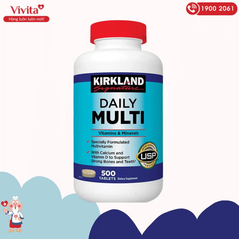 Viên uống Daily Multi Kirkland Signature là sản phẩm thực phẩm chức năng bổ sung vitamin và khoáng chất hàng ngày cho cơ thể.