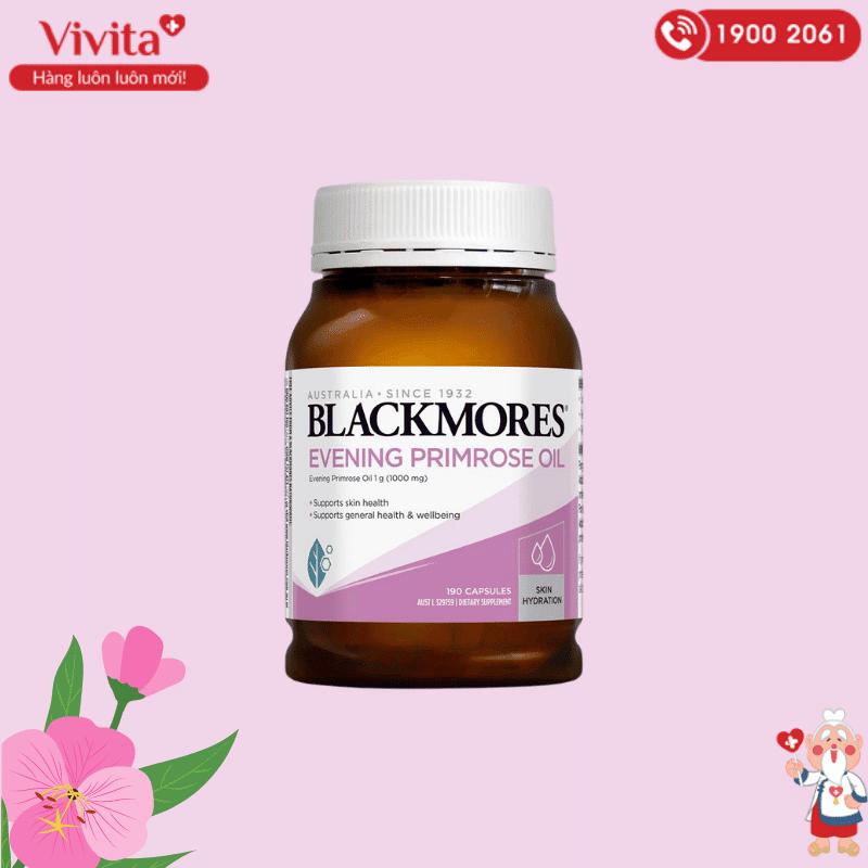 Thành phần chính của viên uống Blackmores Evening Primrose là tinh dầu từ hoa anh thảo.