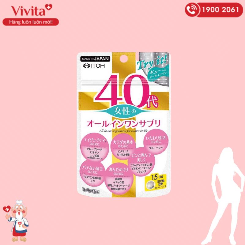Một trong những sản phẩm được nhiều chị em yêu thích và tin tưởng lựa chọn chính là viên uống bổ sung toàn diện cho phụ nữ tuổi 40 của ITOH.