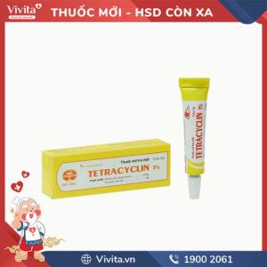 Thuốc mỡ tra mắt trị nhiễm khuẩn Tetracyclin 1%