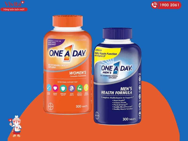 One A Day được người sử dụng ở Việt Nam biết đến nhiều nhất với các sản phẩm thực phẩm chức năng bổ sung vitamin và khoáng chất.