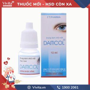 Thuốc nhỏ mắt trị ngứa, đỏ mắt Daiticol